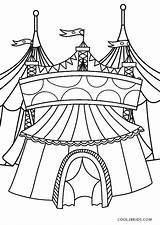 Circus Coloring Pages Printable Tent sketch template