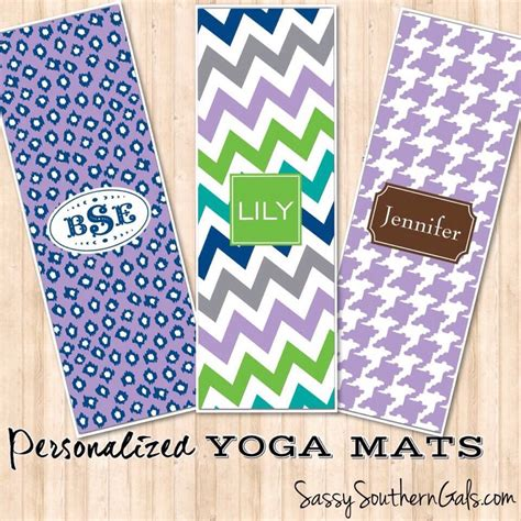 personalized yoga mat monogrammed yoga mat sassy