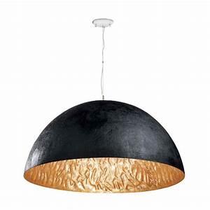 Suspension Noir Et Or : magma p lampe suspension noir et or faro ~ Teatrodelosmanantiales.com Idées de Décoration