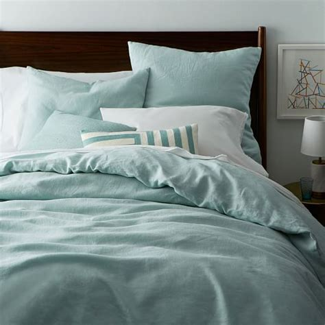 Belgian Flax Linen Duvet Cover + Shams  West Elm