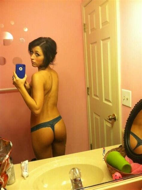 Shy Girlfriend Picturing Her Tight Ass In Blue Panties