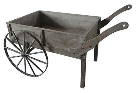 rustic garden cart on wheels