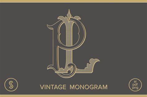 lp monogram pl monogram logo templates creative market