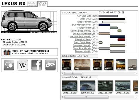 lexus gx paint codes and media archive clublexus lexus