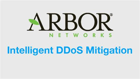 ddos mitigation  protection solutions arbor networks