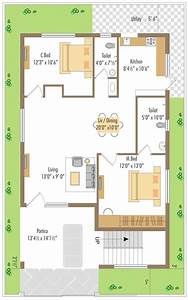 WEST FACING SMALL HOUSE PLAN