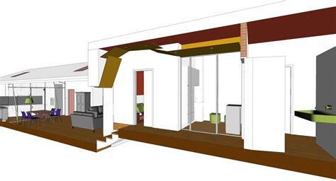 pannelli controsoffitto cartongesso 95 mq con cucina chiusa da parete vetrata di taglio