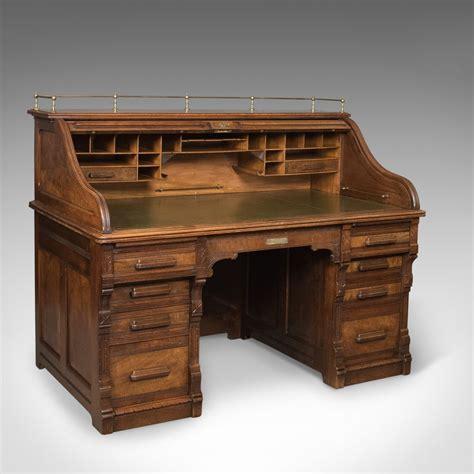 Antique Roll Top Desk, Shannon File Co., English