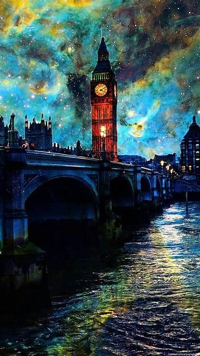 Vertical Iphone Night London Sky Clouds River