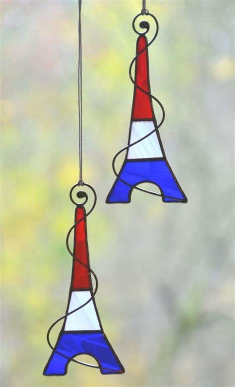 stained glass suncatcher eiffel tower glass ornaments glass decor eiffel tower suncatcher