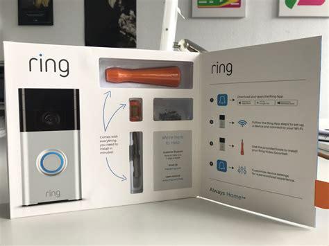 smarte tuerklingel ausgepackt die ring video doorbell im
