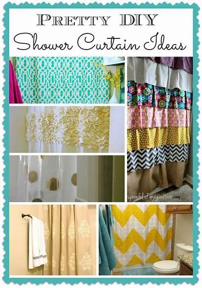 Curtain Shower Diy Easy Curtains Pretty Bathroom