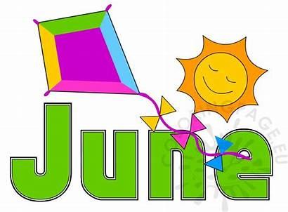 June Month Summer Calendar Coloring Dsbn Coloringpage