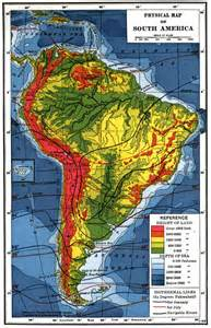 South America Topographic Map
