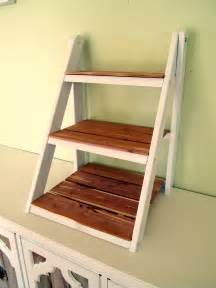 DIY Ladder Shelf Plans