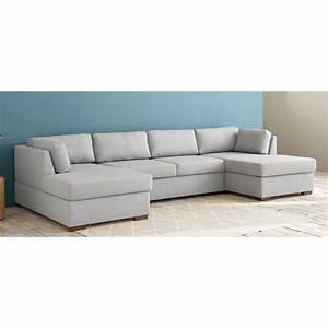 Sofas Maison Du Monde : light grey 7 seater u shaped sofa bed times square ~ Watch28wear.com Haus und Dekorationen