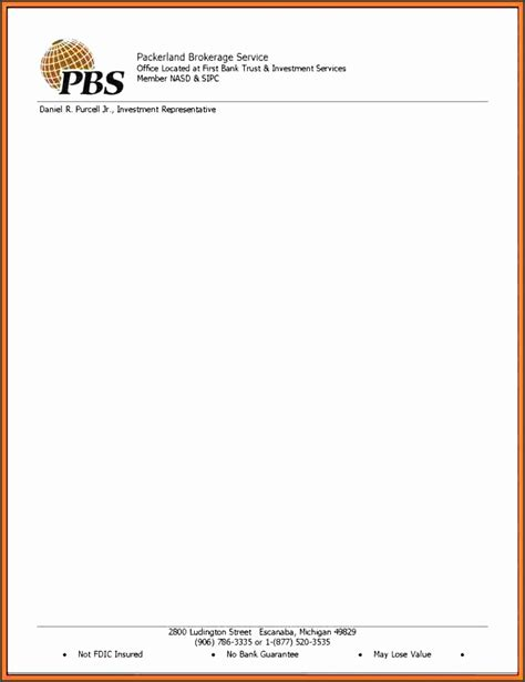 professional letterhead template sampletemplatess