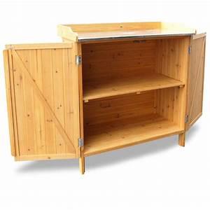 Unter Tisch Gerät : habau 3106 gartentisch mit unterschrank 98 x 48 x 95 cm ~ Heinz-duthel.com Haus und Dekorationen