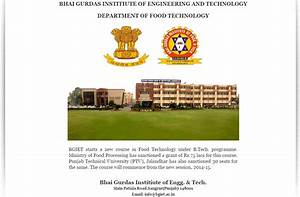 Food & Technology Department | Bhai Gurdas Institute Of ...