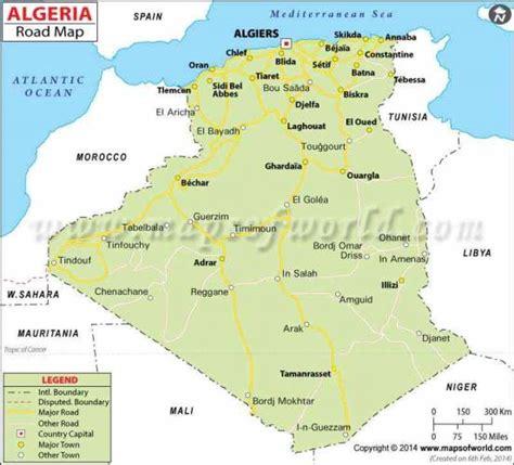Carte Algerie Villes by Algeria Map Holidaymapq