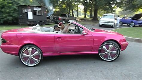 Outrageous Blue And Candy Pink Mercedes-benz On Davins And