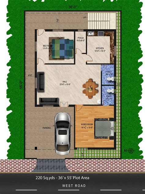 waynirman sq yds sq ft west face house bhk