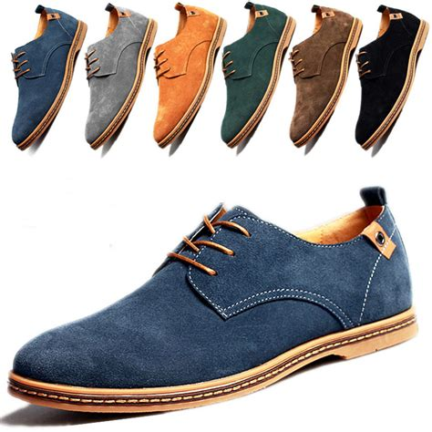 Menu0026#39;s European style oxfords leather Shoes Suede Dress Formal Casual Multi Size   eBay