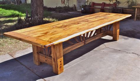 Rustic Pine Wood Dining Table