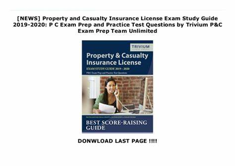 Our property & casualty insurance test prep also comes with vocabulary study flashcards, exam tip videos, support from a licensed instructor, and can be conveniently taken on any device. NEWS Property and Casualty Insurance License Exam Study Guide 201…