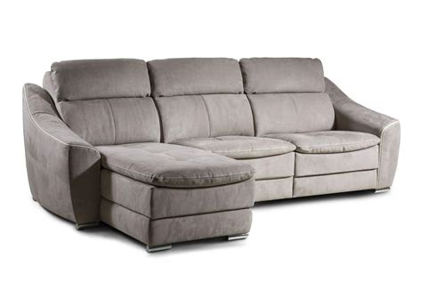 Poltrone Reclinabili Natuzzi : Leather Sofa With Reclining Backrest And Footrest