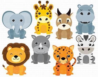 Safari Animals African Clipart Myclipartstore Categories