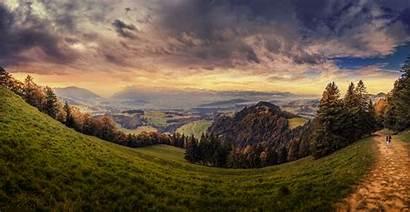 Landscape Nature Scenery Wallpapers Windows Switzerland Forest