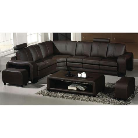 canapé d angle relax electrique canapé d 39 angle en cuir marron avec têtières relax havane