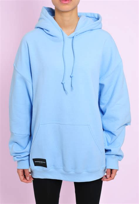 light blue hoodie hoodie open cut light blue desertwaste