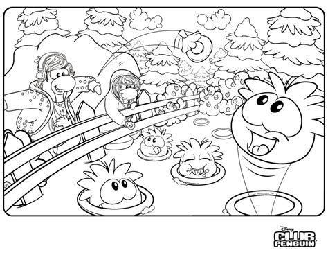 Coloring Pages Of Puffles  Az Coloring Pages
