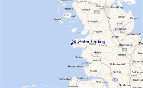 Karte Sankt Peter Ording