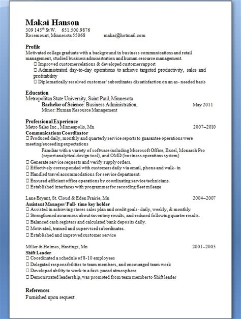Resume Format For Assistant Manager by Assistant Manager Resume Format For Application In