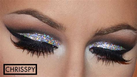 years eve silver glitter tutorial youtube
