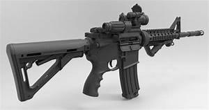 3D model M4a1 Gun VR / AR / low-poly OBJ FBX TGA ...  Gun