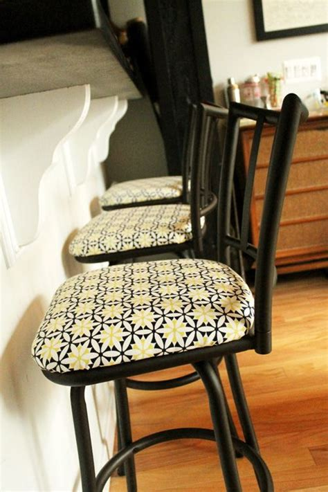 In Home Reupholstering by Before And After Reupholstering Bar Stools Ideas For