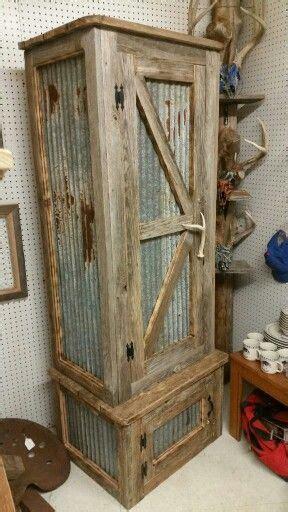 pallet wood gun cabinet plans rustic gun cabinet pinteres