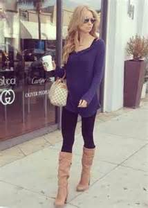 Long Sweater with Leggings and Boots