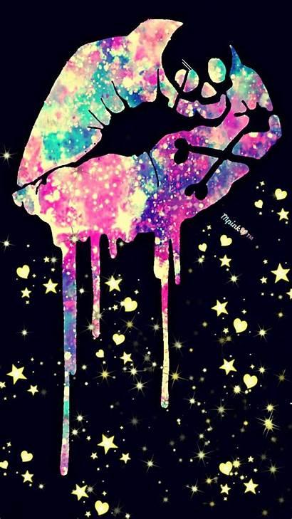 Skull Wallpapers Girly Galaxy Lips Glitter Punk