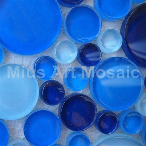 [Mius Art Mosaic] Sea bluePolish bubble Penny Round