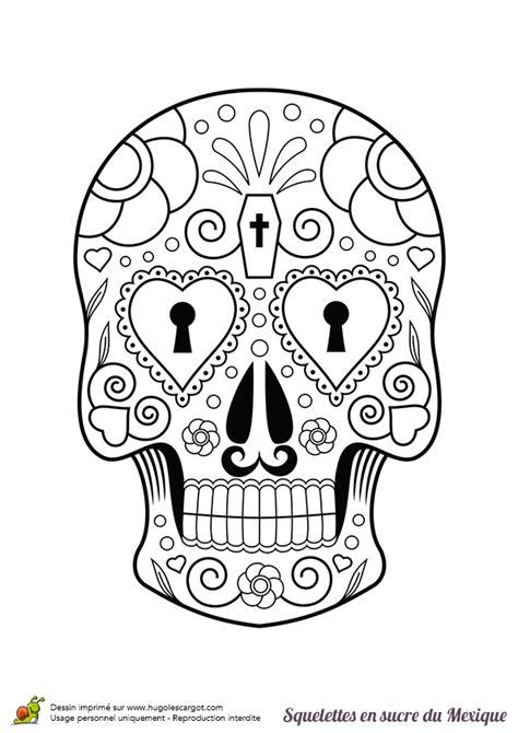 masque rituel à tête de fils des histoires coloriage squelette sucre serrure coeurs sur hugolescargot com
