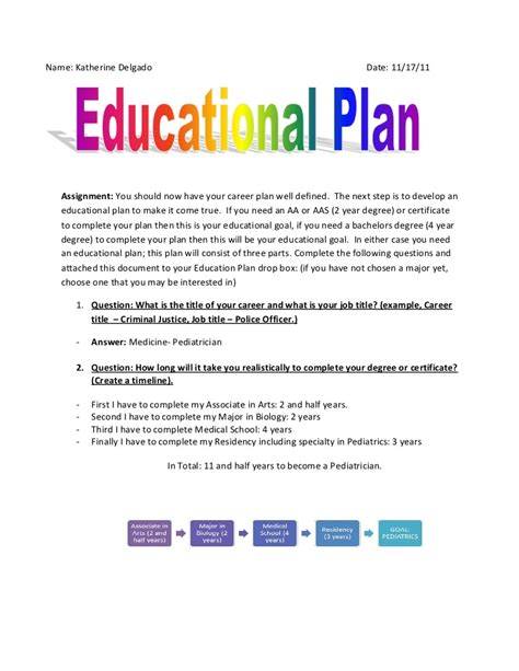 educational plan