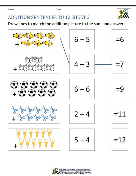 grade addition worksheets