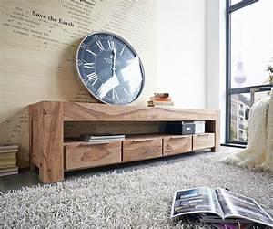 Möbel Boss Tische : lowboard blokk 200 cm sheesham natur 4 sch be massiv ~ Watch28wear.com Haus und Dekorationen