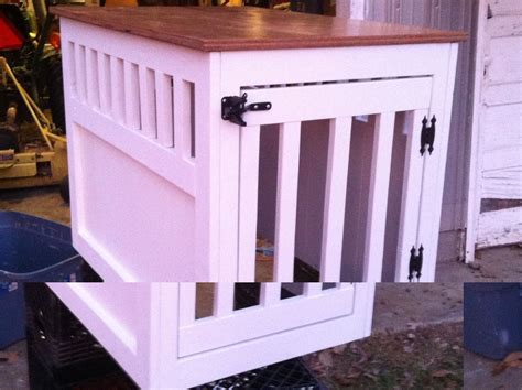 large wooden dog crate  table    home