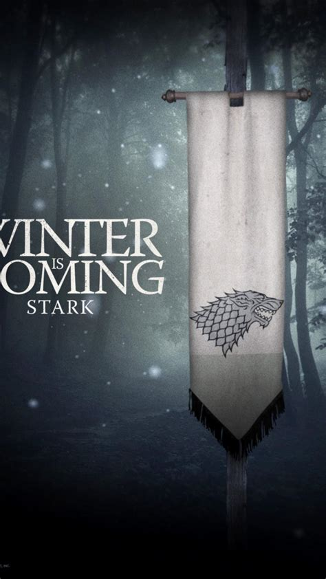 thrones winter coming house stark wallpaper